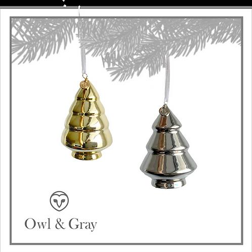 Mini Ceramic Tree - Gold