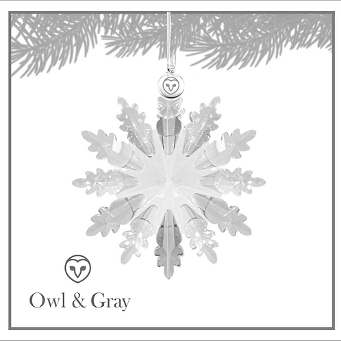 12 Point Crystal Snowflake - Clear