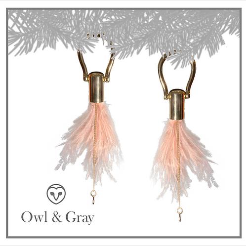 Ostrich Feather Tassel - Vintage Rose