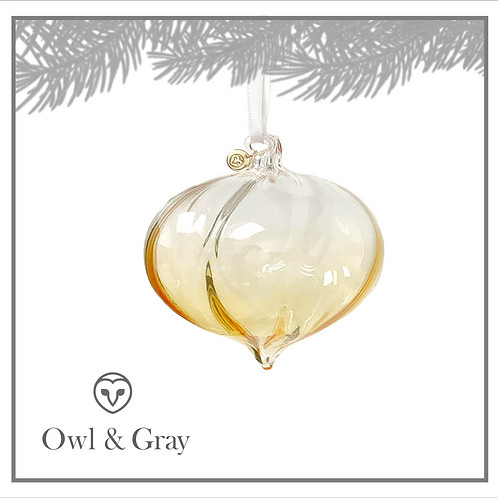 """4"""" Twisted Glass Finial - Ombre Gold"""