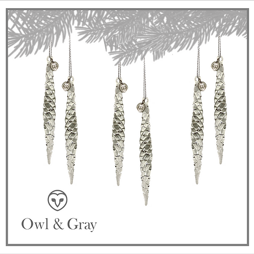 Crystal Icicles Set of 2  - Clear