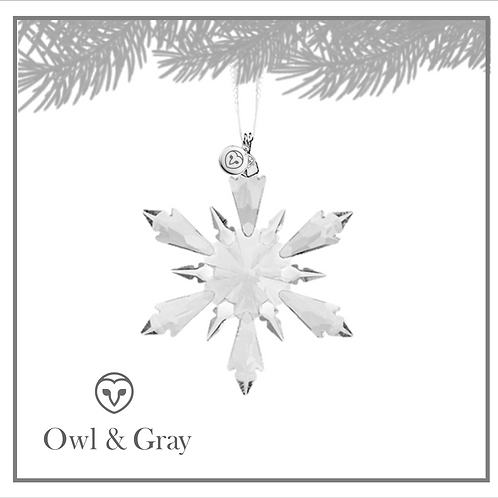 6 Point Crystal Snowflake - Clear