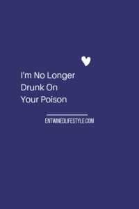 If you've been in a relationship with a narcissist then you first hand what it's like to be drunk on their poison. From their selfish ways to their toxic lies you are better off sober, aka single. #narcissist #toxic #relationships #relationshipstruggles