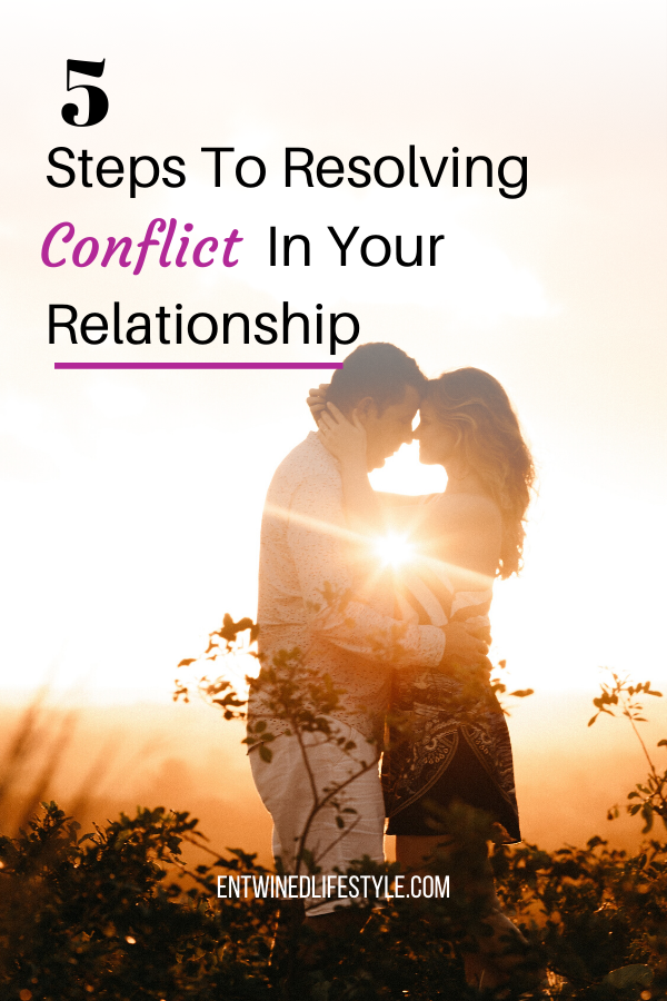 Struggling to get past a conflict in your relationships? Use these 5 simple steps to resolve the discord so you can get back to enjoying each other. #relationshiptips #relationshipadvice #marriageadvice #healthyboundaries #conflictresolution