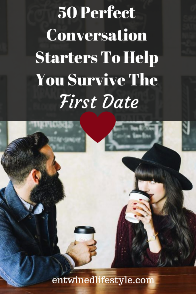 First date jitters? Here are 50 Questions to ask on a first date so your survive the awkward silences and make it to the second. #firstdate #conversationstarters #datingtips #relationshiptips