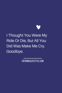 Just when you thought you had met your soulmate the rose colored glasses fall off and they aren't who you thought they were. The passion may have been lit, but that won't keep your relationship together and growing. Don't waste another day if all they do is make you cry. As hard as it is, say goodbye. #goodbye #breakupquotes #quotes #relationships #rideordie #self-love