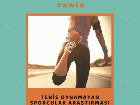 Tenis oynamayan sporcular araştırması