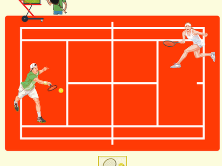 Harika Bir Tenis Dersi !