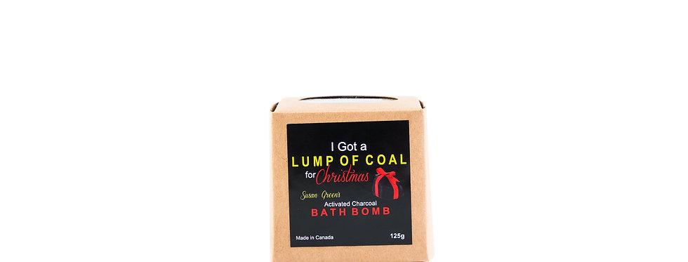 Lump of coal charcoal bath bomb