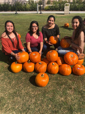 Pumpking patch with sisters