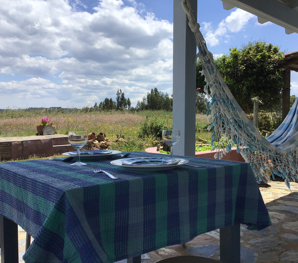Breakfast outdoor table Odemira Portugal