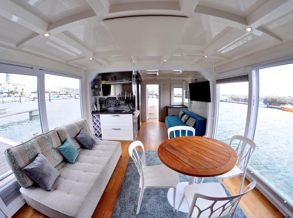 floating boat house