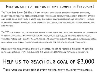 We are fundraising to attend the youth bike summit in February of 2019!