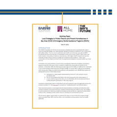 Local Strategies to Protect Tenants and Prevent Homelessness in Bay Area COVID-19 Emergency Rental Assistance Programs (ERAPs)
