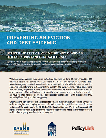 Preventing an Eviction and Debt Epidemic
