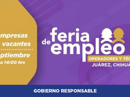 Alistan más de 400 vacantes en Feria del Empleo en Juárez, y con empresas incluyentes