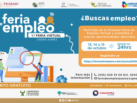 Ofertan en Juárez más de 1,700 vacantes en Feria de Empleo Virtual