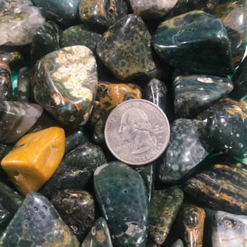 Sea Ocean Jasper Tumble Stone
