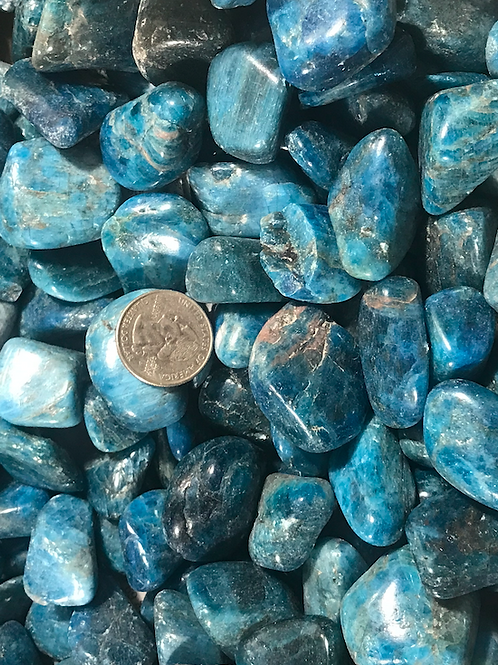 Polished Tumbled Apatite Stone