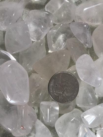 Small Clear Quartz Tumble