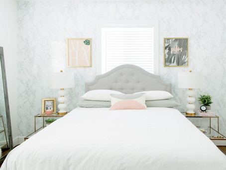 Guest Bedroom Redesign Reveal with Overstock
