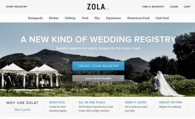 Zola: The Ultimate Wedding Registry