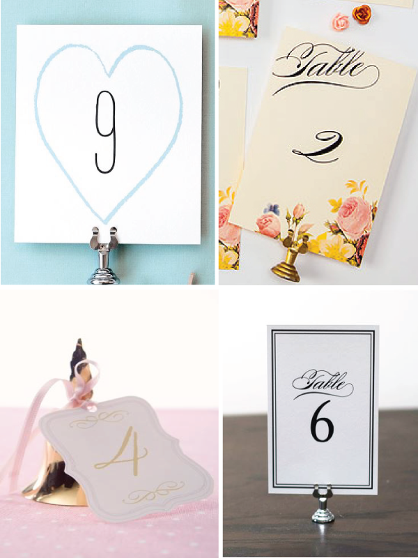 Freebie Friday Table Numbers
