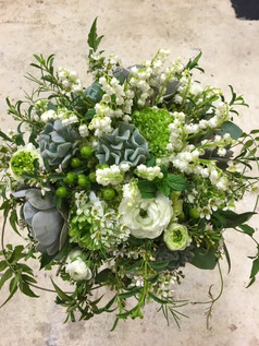 lily of the valley ranunculas bouquet