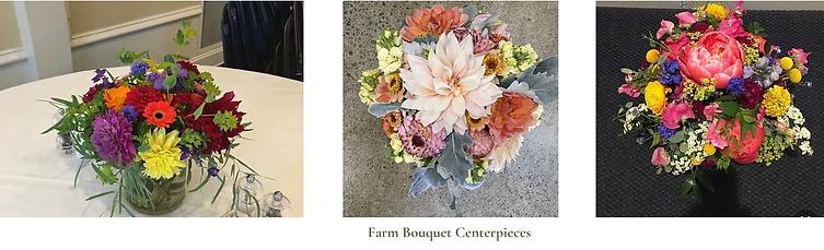 Farm bouquet centerpieces packages