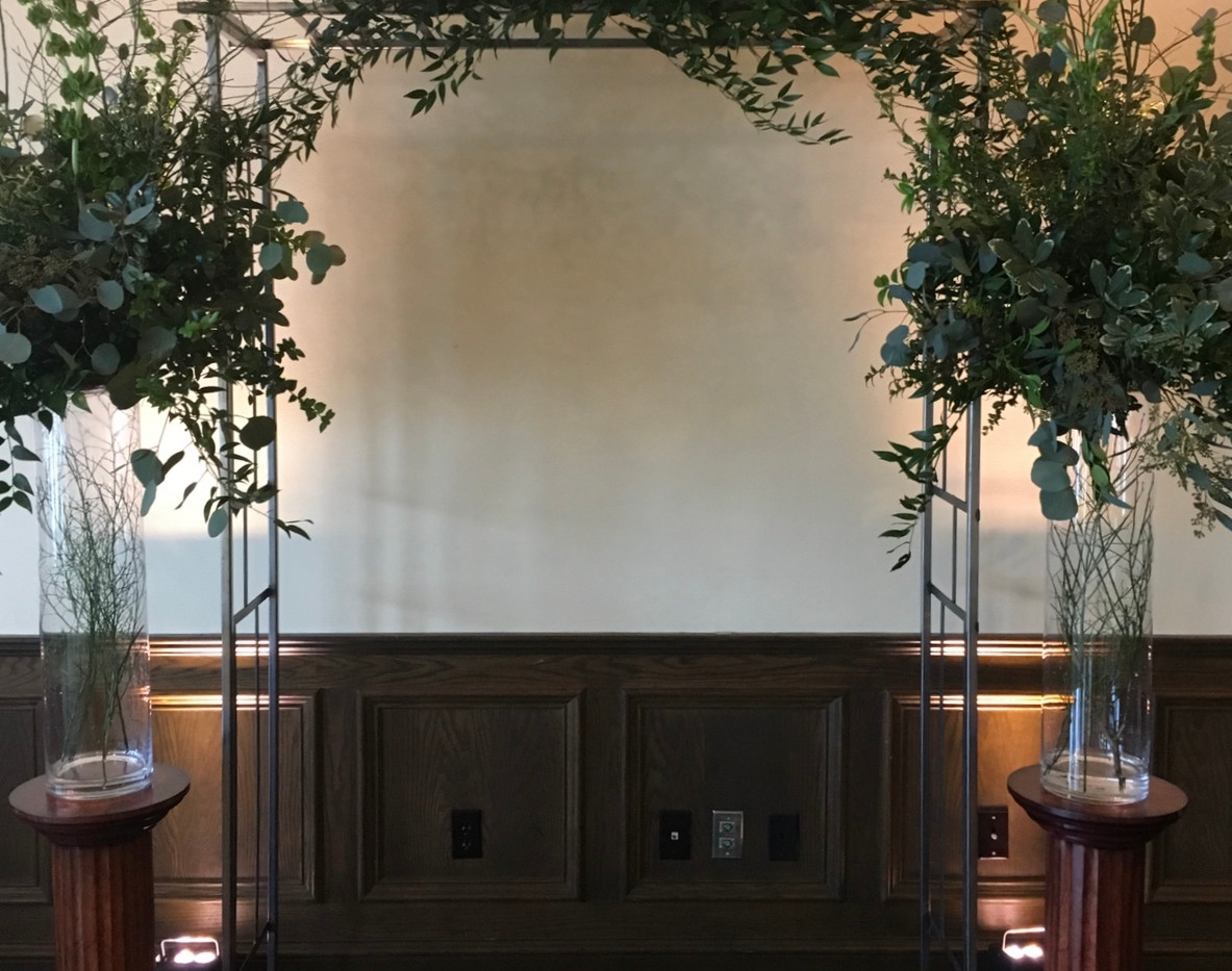 Hand Crafted Oxidized Metal Arch