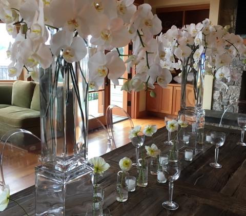 phaleanopsis orchids centerpiece