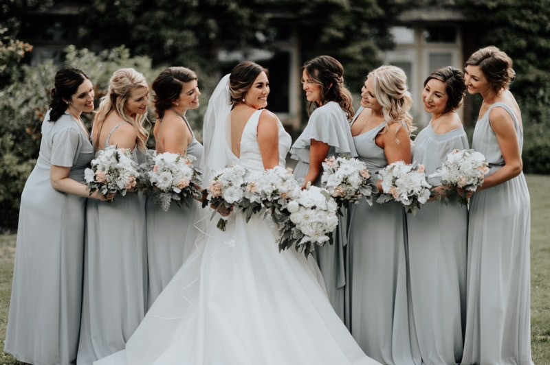Alderbrook lodge bridesmaid bouquets