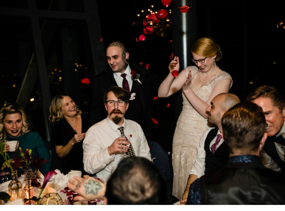 Rose Petal at wedding party