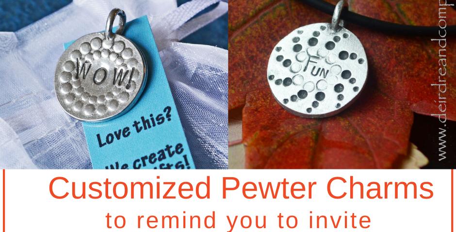 Pewter charm: FUN or WOW!
