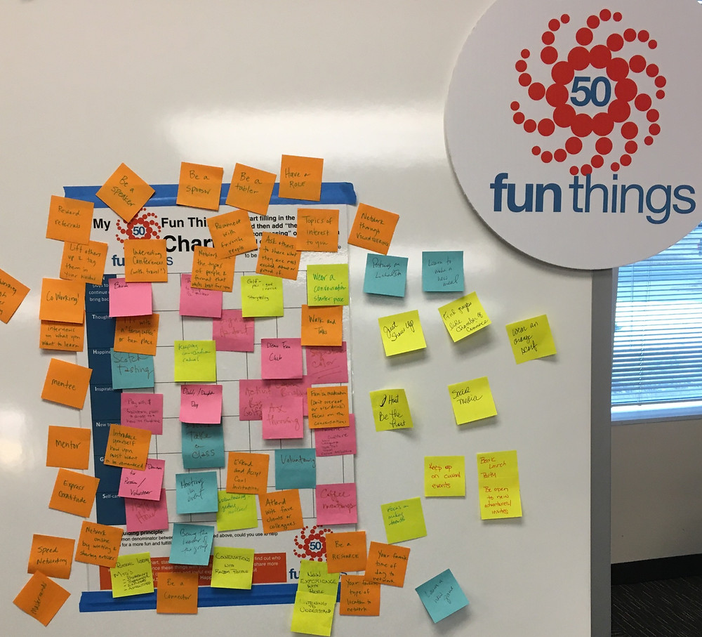 Ideas generated at 50 Fun Things to Nurture Your Network at OffiCenters POWERHOUR