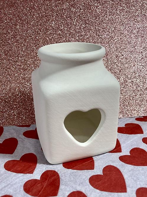 Heart Cutout Tealight Holder- Pines rd