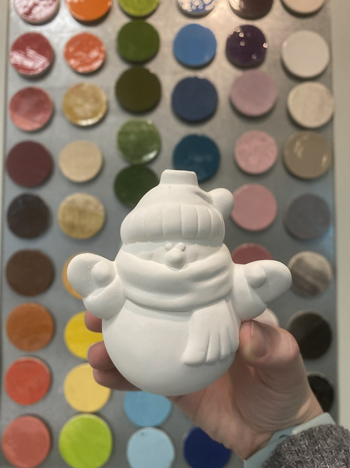 Cozy Snowman Ornament -NWBLVD