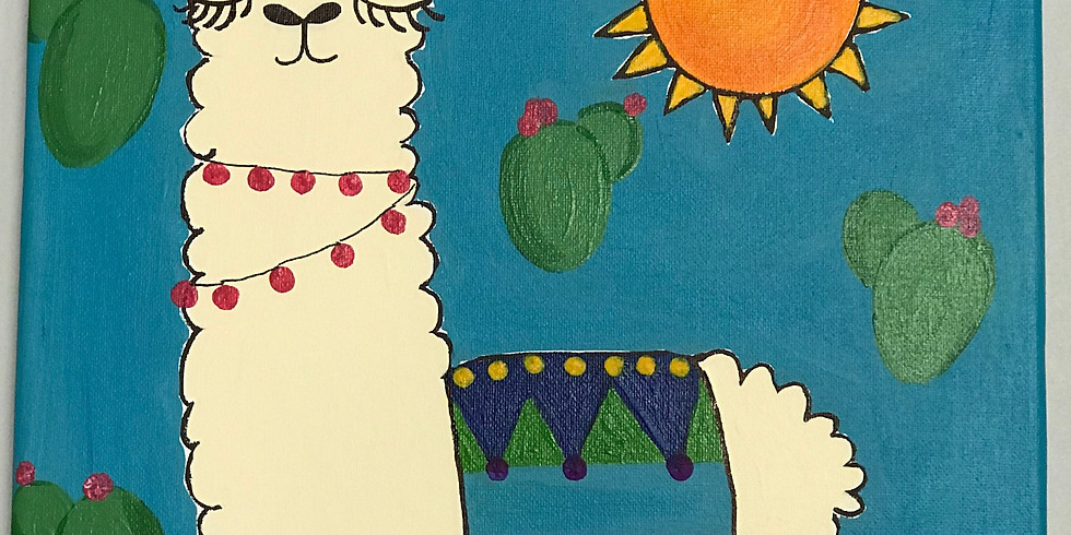 KIDS CAMP  Yo Llama Canvas Art Class