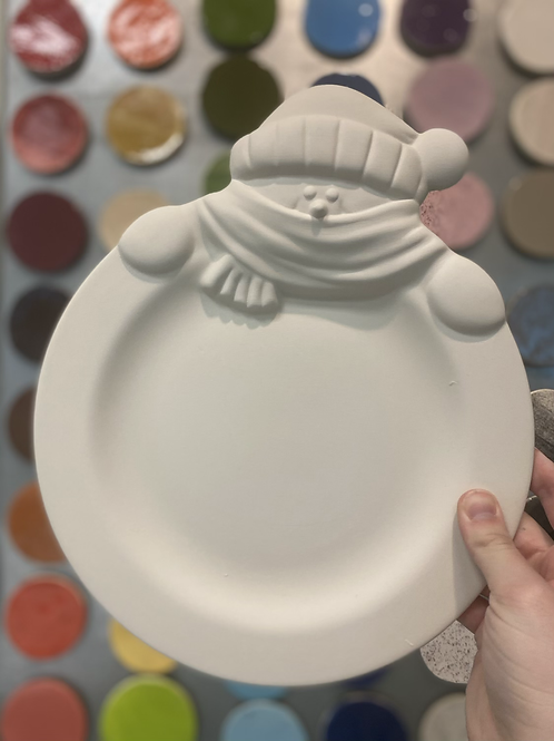 Cozy Snowman Plate -Valley Mall