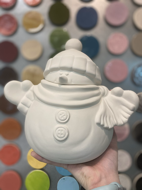 Cozy Snowman Cookie Jar -Valley Mall