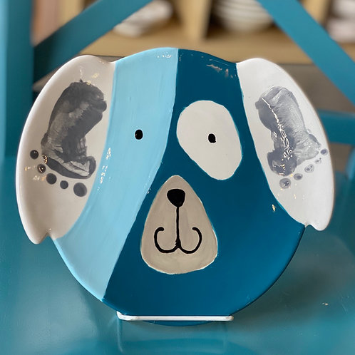 Footprint Puppy Plate - Pines