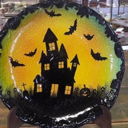 Haunted House Plate