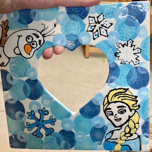 Elsa Picture Frame, Pre-Drawn