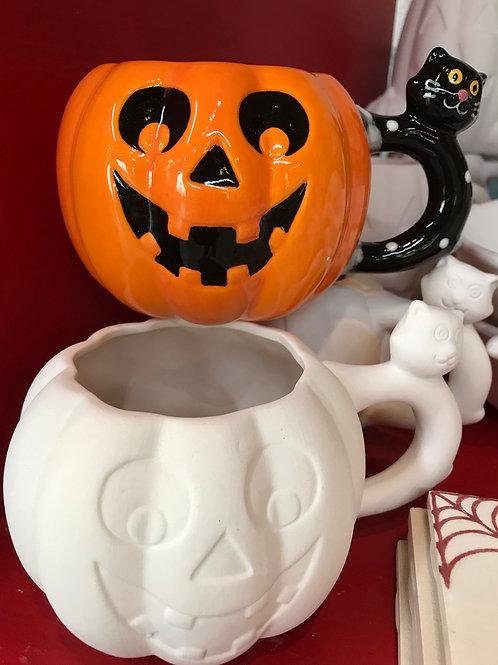 Pumpkin Cat Mug- Pines