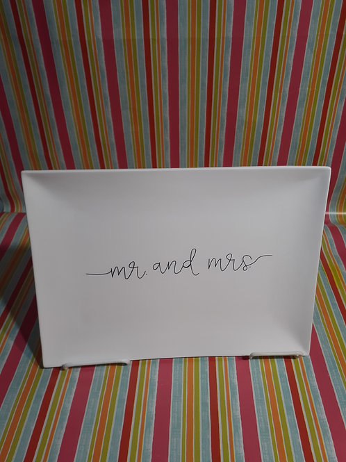 JUST MARRIED! MR. & MRS. Pre-Drawn Platter - Kennewick