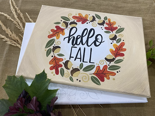 Hello Fall! at Home Canvas Kit-NW Blvd