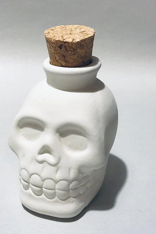 Cork topped Skull bottle