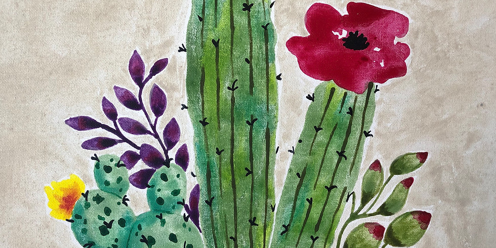 ALL AGES - Cactus Watercolor Class