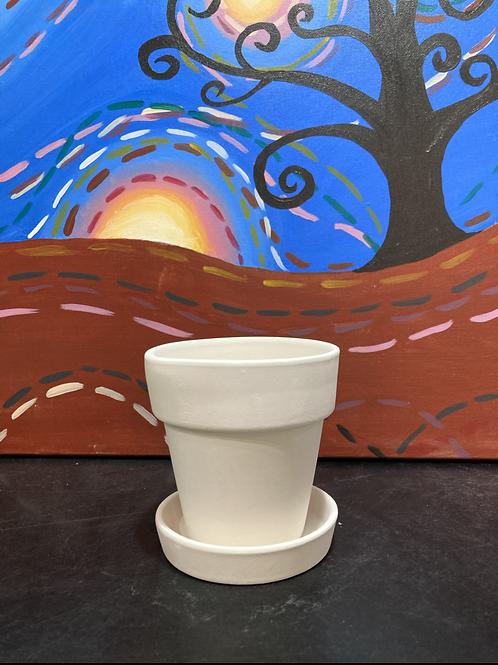 Sm Flower Pot with Tray-Kennewick