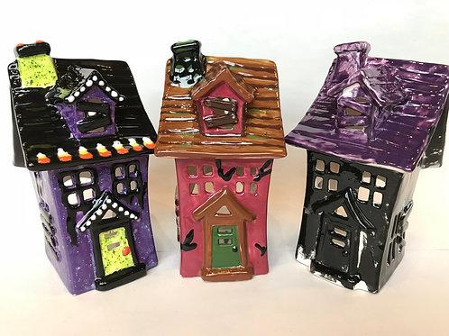 Haunted House Tea Light-Pines